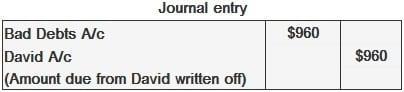 bad debts journal entry