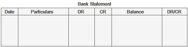 Bank Statement Format