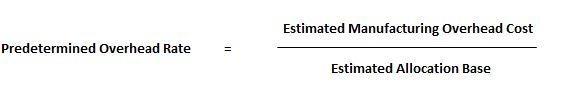 Predetermined-overhead-rate-formula