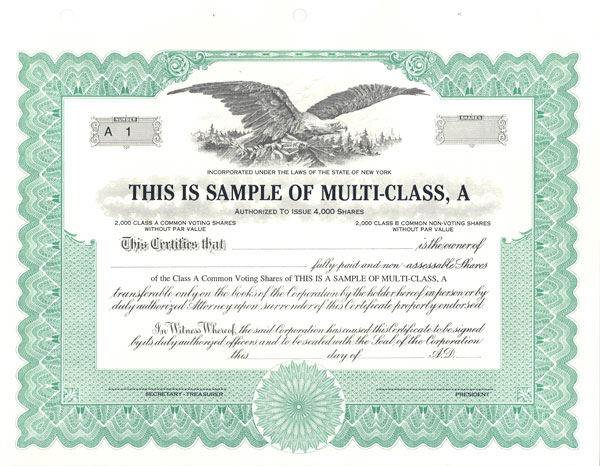 Stock-Certifiate-issued-by-a-corporation