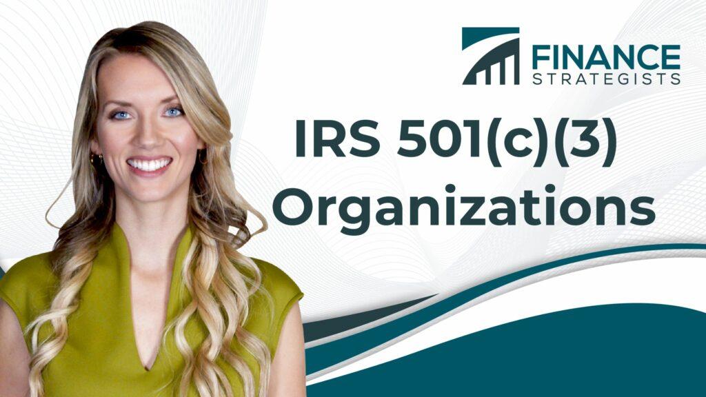 IRS 501(c)(3) Organizations