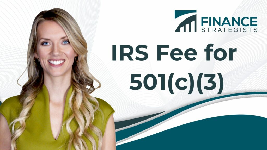 IRS Fee for 501(c)(3)