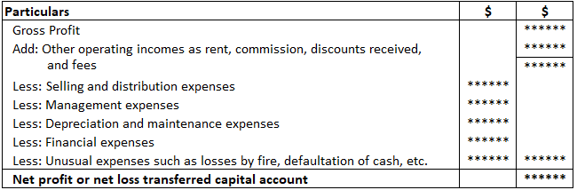 Income Statement to Ascertain Net Profit and Net Loss