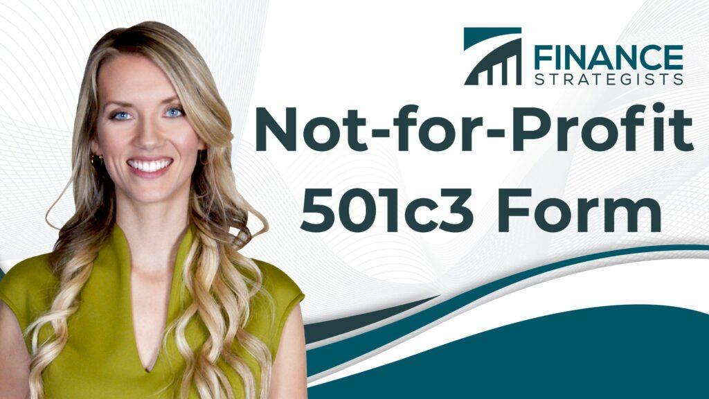 Not for Profit 501c3 Form