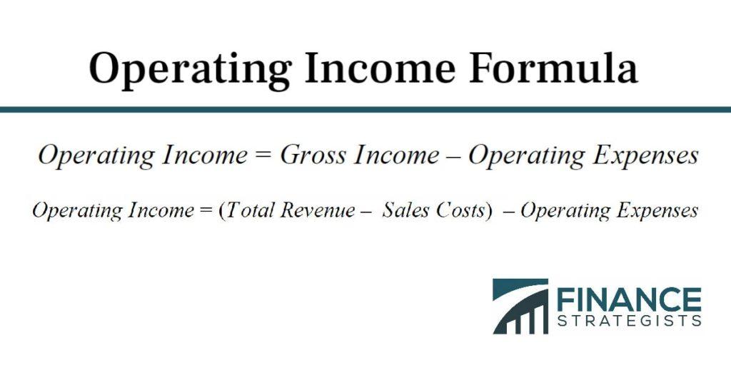 Operating Income Formula